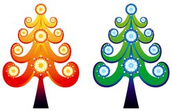 Christmas tree Vector. Decorative Christmas tree perfect for card Royalty Free Stock Images
