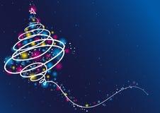 Christmas tree, vector Royalty Free Stock Photos