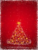 Christmas tree, vector Royalty Free Stock Images