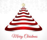 Christmas Tree Vector Background Stock Image