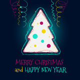 Christmas tree vector background Royalty Free Stock Photo