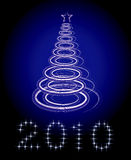 Christmas tree vector on black background Royalty Free Stock Photography