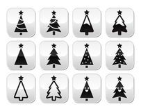 Christmas tree vector buttons set Stock Photography