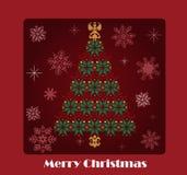 Christmas tree vector card Stock Image