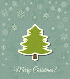 Christmas tree vector card Stock Photos