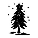 Christmas tree vector Stock Images