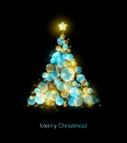 Christmas tree. Vector greeting Royalty Free Stock Photos