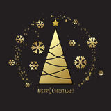 Christmas tree. Vector greeting Royalty Free Stock Photo