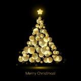Christmas tree. Vector greeting Stock Photography