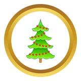 Christmas tree vector icon Stock Image