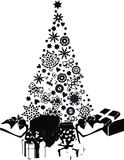 Christmas tree. Vector icon silhouette isolated Royalty Free Stock Photography