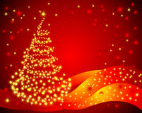 Christmas tree. Vector illustration Stock Images