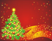 Christmas tree. Vector illustration Royalty Free Stock Image