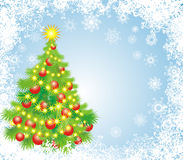 Christmas tree. Vector illustration Stock Photos