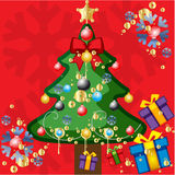 Christmas tree vector illustration. An illustration of christmas tree with the all details Royalty Free Stock Images