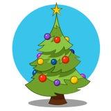 Christmas tree. Vector illustration. Christmas tree beautiful Vector Illustration