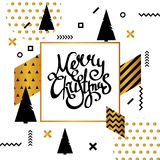 Christmas tree, vector illustration. Can be used for greeting card, invitation Stock Image