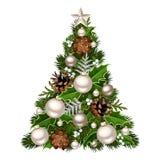 Christmas tree. Vector illustration. Stock Photos