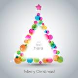 Christmas tree. Vector illustration Christmas tree. EPS 10 Stock Images