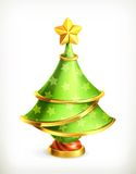 Christmas tree, vector illustration Stock Photography
