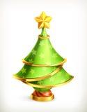 Christmas tree, vector illustration Stock Photography