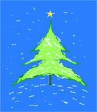 Christmas tree - vector illustration. Stock Image