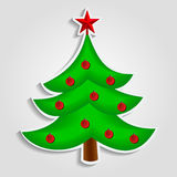 Christmas tree vector image in flat design Royalty Free Stock Photos