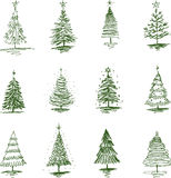 Christmas tree. Vector image of a funny Christmas tree stock illustration