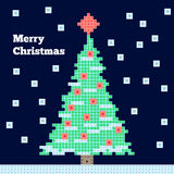 Christmas tree. Vector Christmas tree, pixel art vector illustration