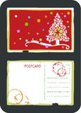 Christmas tree vector postcard Royalty Free Stock Photos