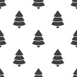 Christmas tree, vector seamless pattern Stock Image