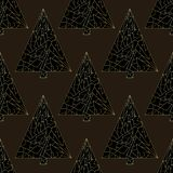 Christmas tree vector seamless pattern. Happy New Year background. Winter Xmas holidays texture for surface design. Christmas tree vector seamless pattern. Happy vector illustration