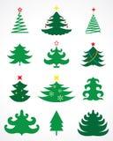 Christmas tree. Vector set eps 8 Stock Photography