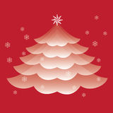 Christmas Tree Vector. Christmas Tree Transparent in Red Color Vector Royalty Free Stock Photo