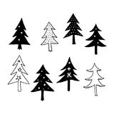 Christmas tree, vector Stock Images