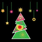 Christmas tree vector x-mas design element Royalty Free Stock Photo