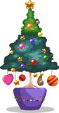Christmas tree vectror. Christmas tree of  illustration vector Royalty Free Stock Photography