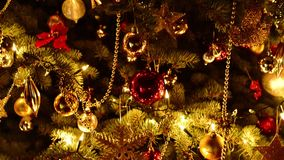 Christmas tree. Vertical panning. stock footage