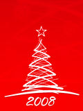 Christmas tree, vertical, red Stock Image