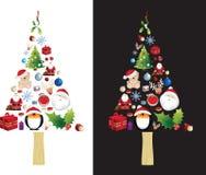 Christmas Tree Very Detailed Illustration Stock Photos