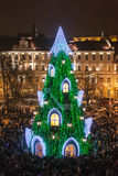 Christmas tree in Vilnius royalty free stock images