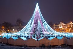 Christmas tree in Vilnius, Lithuania Stock Image