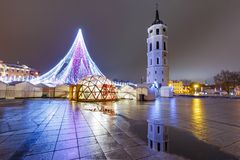 Christmas tree in Vilnius, Lithuania Stock Images