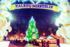 Christmas tree in Vilnius Lithuania 2015 Royalty Free Stock Images