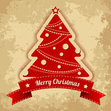 Christmas tree. Vintage background Stock Photos