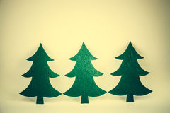 Christmas tree in vintage style Stock Images