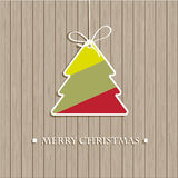 Christmas tree on the wall Royalty Free Stock Photo