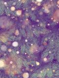 Christmas tree wall decorated. Holiday pine fir branches background. EPS 10 royalty free illustration