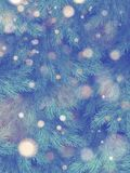 Christmas tree wall decorated. Holiday pine fir branches background. EPS 10 stock illustration