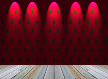 Christmas tree wallpaper with light Royalty Free Stock Photography